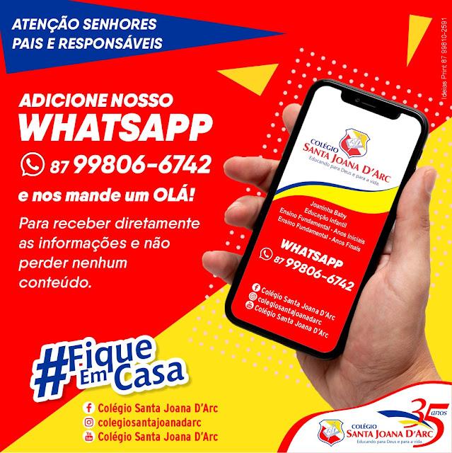 WhatsApp do Colégio Santa Joana D'Arc!!!