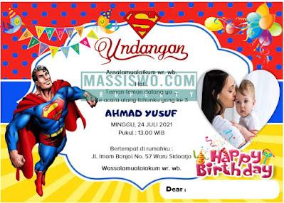 download desain undangan ulang tahun anak laki laki
