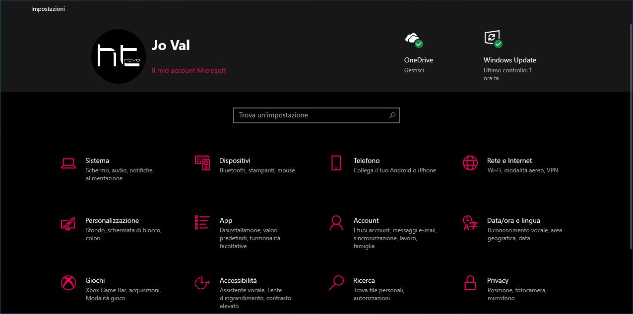 Nuovamente disponibile e senza bug il banner superiore nelle Impostazioni di Windows 10