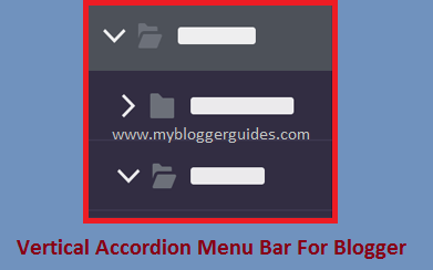 Multi Level Accordion Menu Bar For Blogger