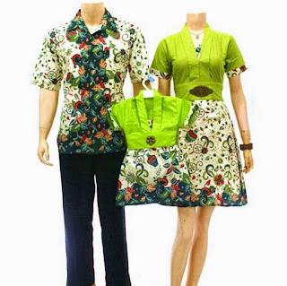model baju batik sarimbit keluarga masa kini