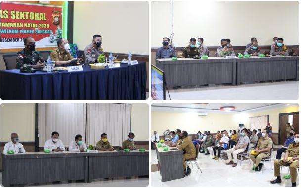 Segenap pimpinanan OPD dan stakeholder di Kabupaten Sanggau dilibatkan dalam pengamanan hari Raya Natal 2020 dan Tahun Baru 2021