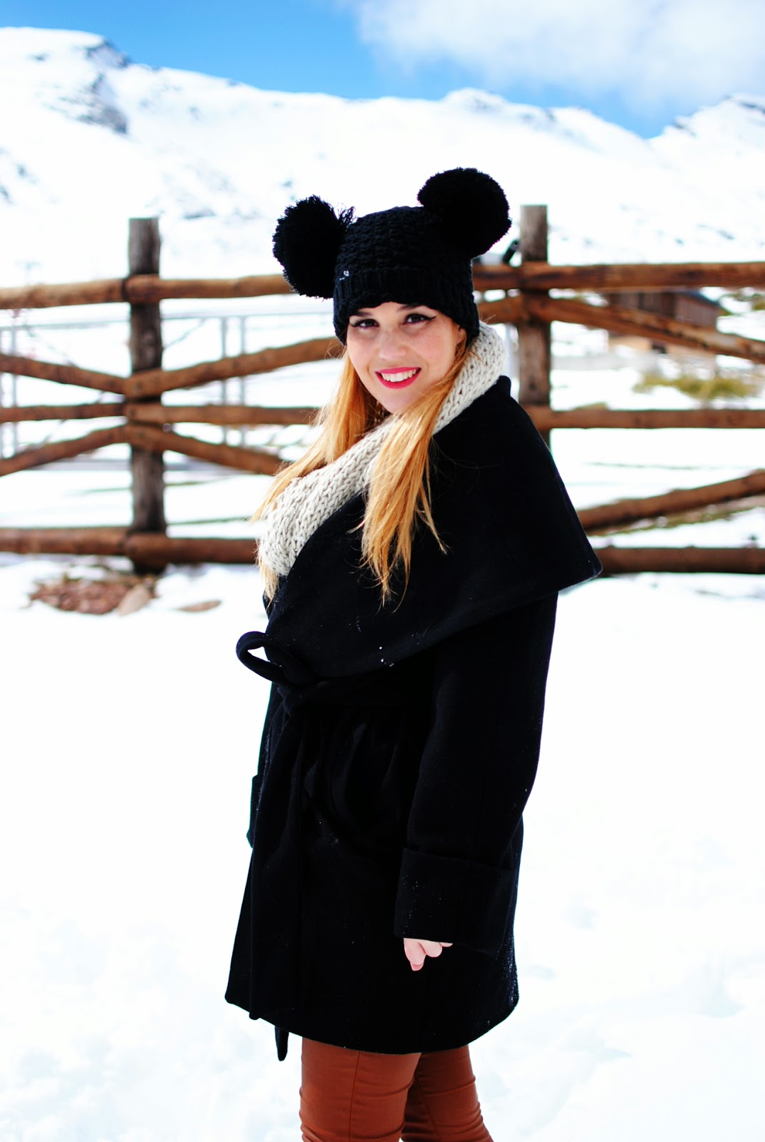 winter look, beanie, front row shop,hunter, look en la nieve, nery hdez
