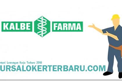 Ada Lowongan Kerja di Lowongan Kerja PT Kalbe Farma Tbk