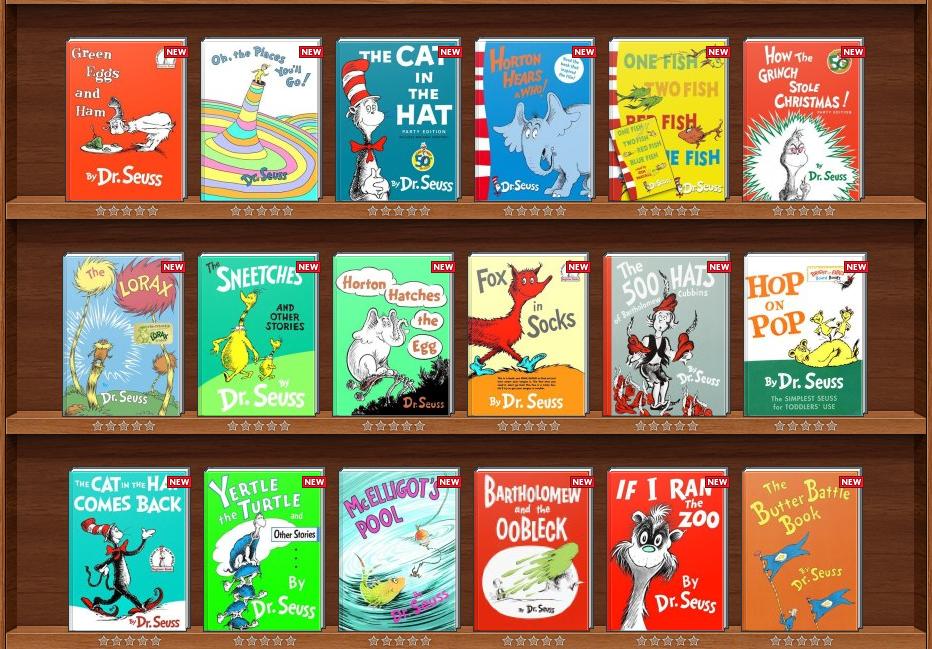 Dr. Seuss: 5 books & C...
