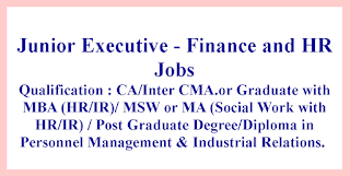 Junior Executive - Finance and HR Jobs in BEML