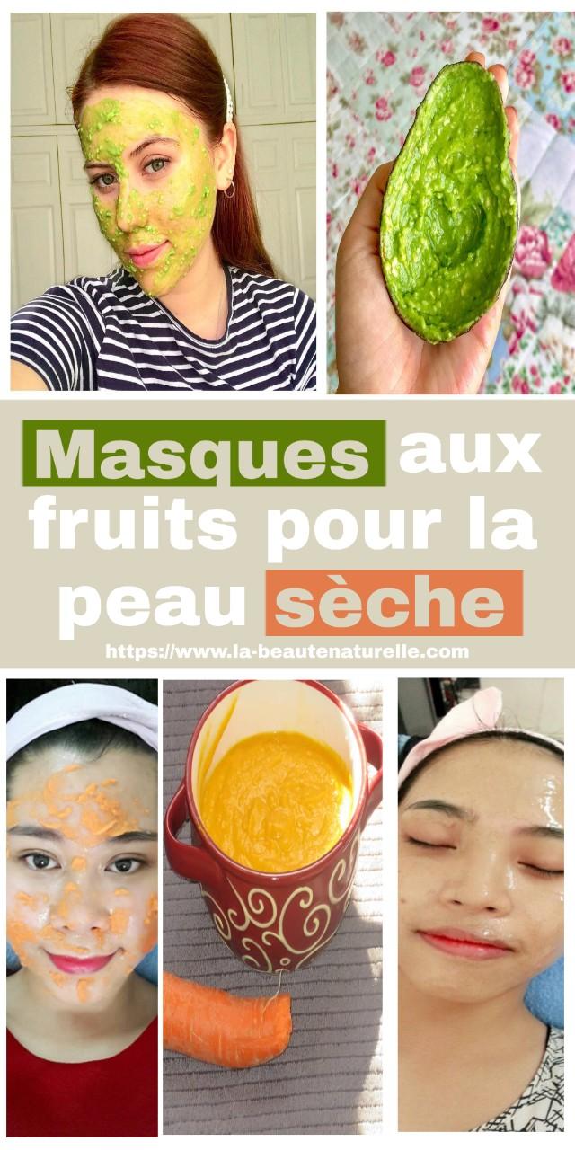 Masques aux fruits pour la peau sèche
