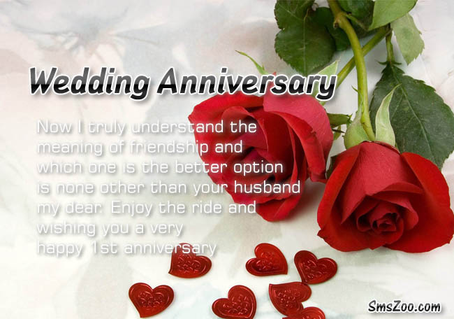 Happy wedding anniversary messages wishes for couple with