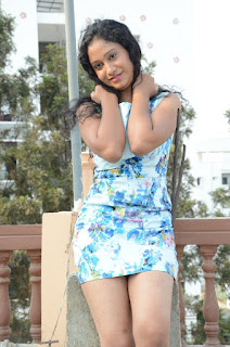 Actress Priyankha Stills in Floral Short Dress at Golmal Gullu Movie Pressmeet 0248.JPG