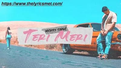 Teri Meri Song Lyrics | Mickey Singh | TreehouseVHT | Latest Punjabi Songs 2020