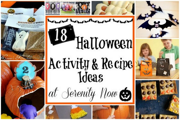 Halloween Activity and Recipes Ideas, from Serenity Now