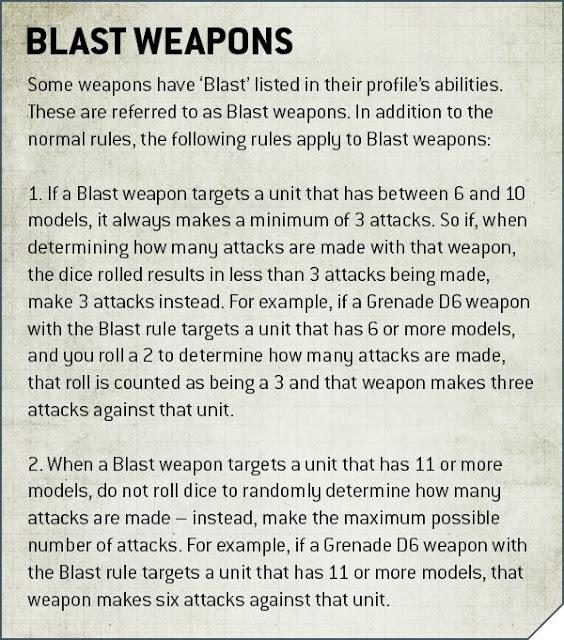 armas blast en 9a edición