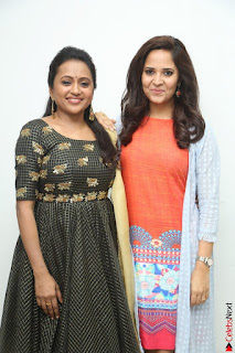 Actress Suma in Black Salwar Suit and Anusuya in orange Dress at winner movie press meet part 1 February 2017 (52).JPG