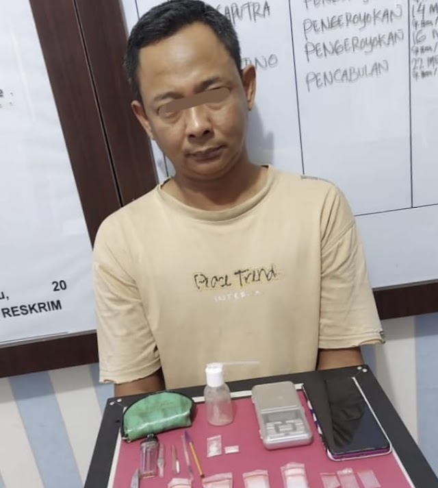 Polres Inhu Amankan JT Pengedar Sabu - Sabu di Pematang Reba