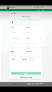 Registration of business name