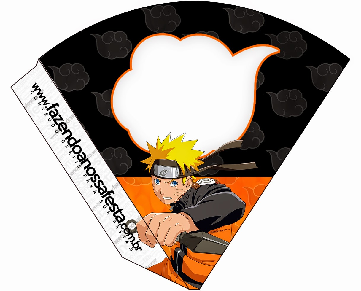 Free Printable Cones of Naruto.