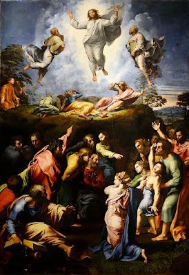 Transfigurazione_(Raffaello) Μεταμόρφωση του Χριστού (1520) του Ραφαήλ