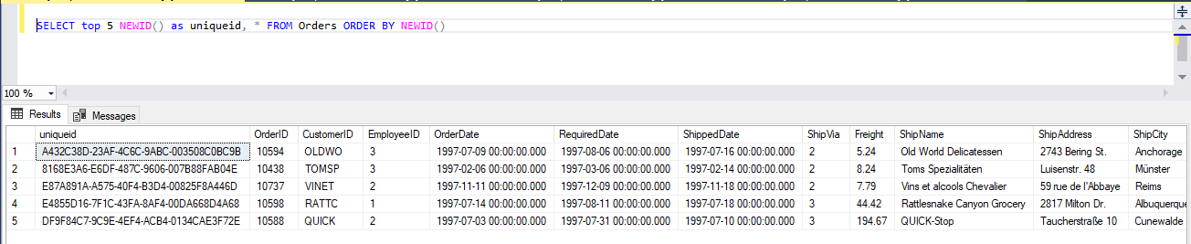 how to get random records from SQL SERVER database table