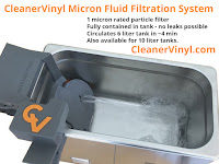 in ultrasonic cleaner fluid filtration system
