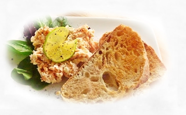 quick salmon and Boursin pate