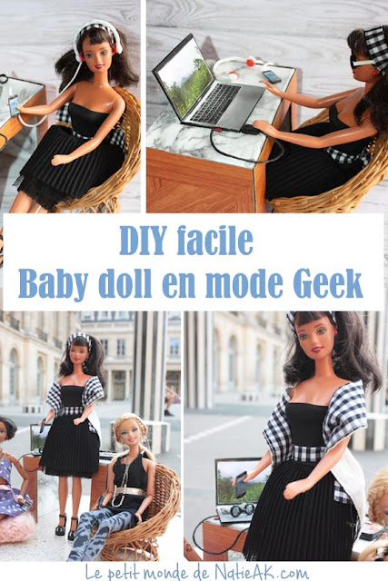 tuto facile vêtement geek barbie