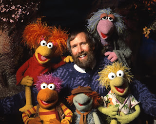 Jim Henson with the Fraggles!