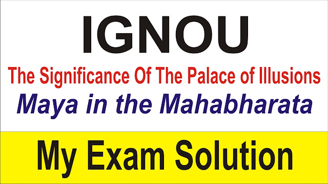 Discuss the significance of the Palace of Illusions/ Maya in the Mahabharata