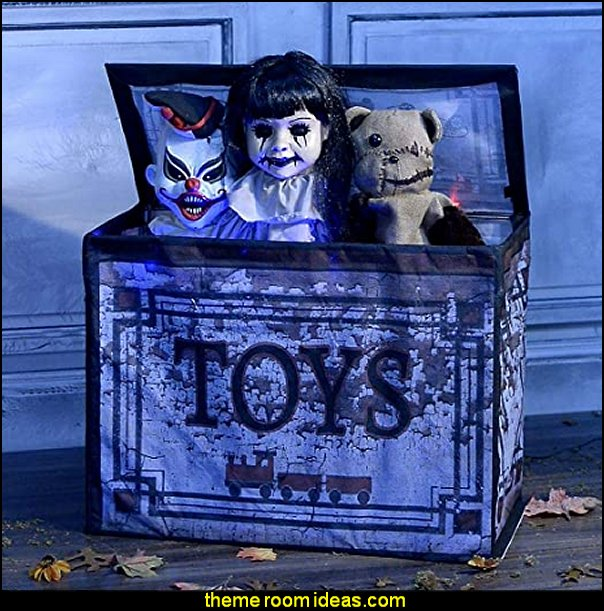 Haunted Toy Box halloween decorating props halloween party decorations
