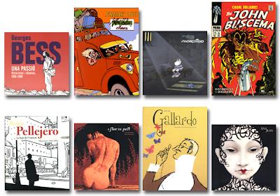 Catálogos Exposiciones Comic Palma, Casal Solleric: Georges Bess, Gilbert Shelton, Mordillo, John Buscema, Rubén Pellejero, Ana Miralles, Miguel Gallardo, Ana Juan