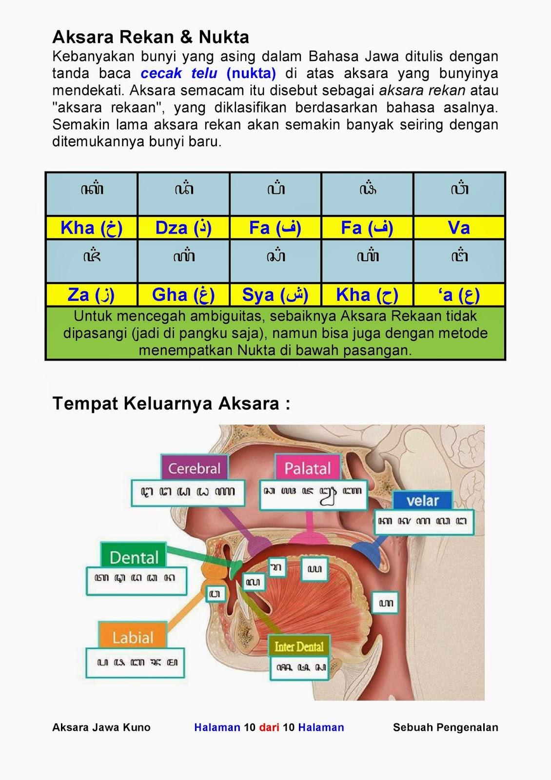 My Experiences My Opinions Belajar Menulis Aksara Jawa Nukta Dan