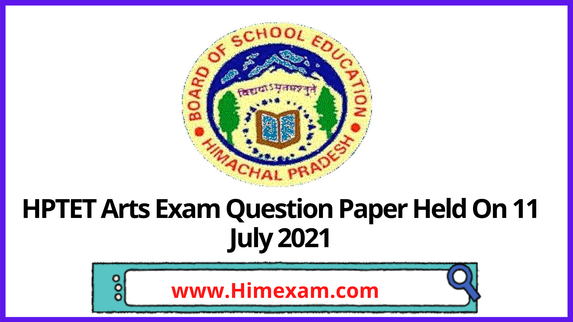 HPTET Arts Exam Question Paper Held On 11 July 2021