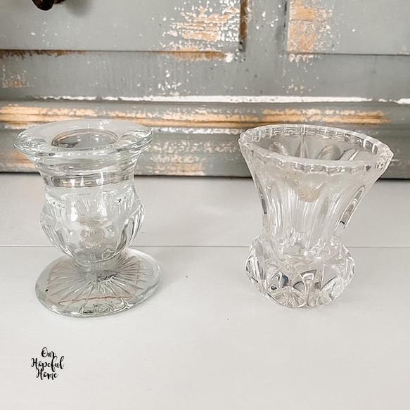 glass  toothpick holders