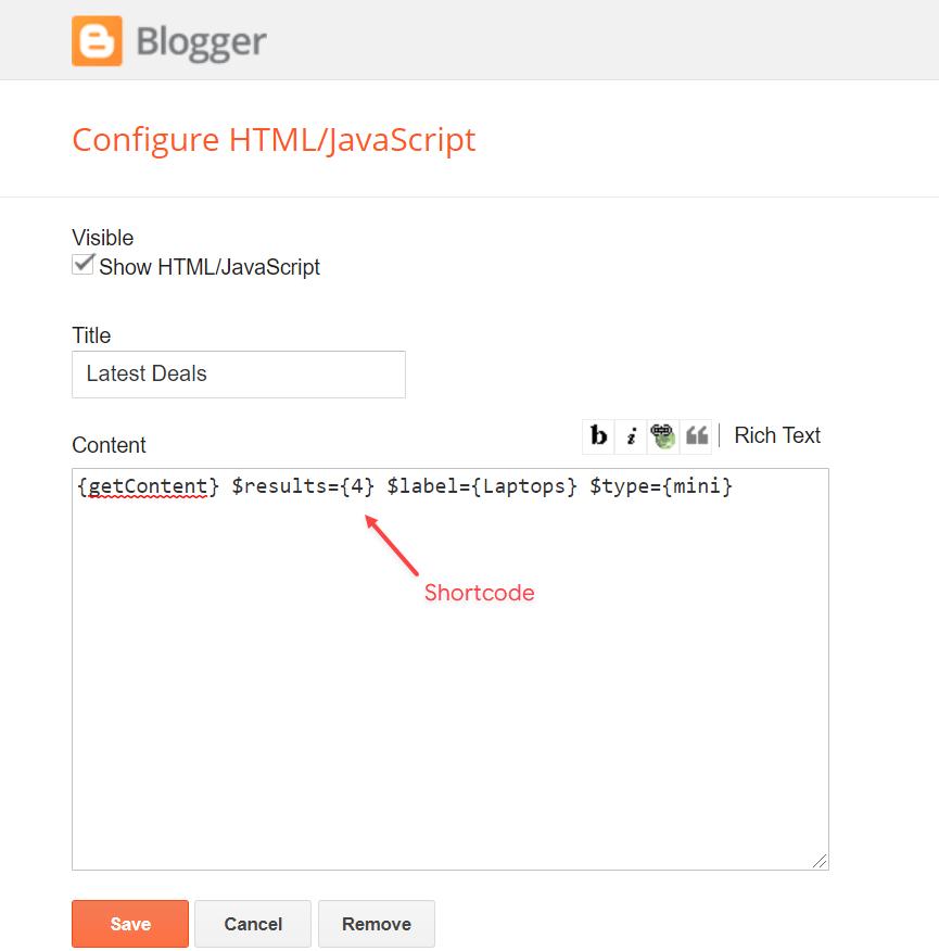 Posts Widgets on Sidebar