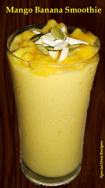 mango banana smoothie special desi recipes