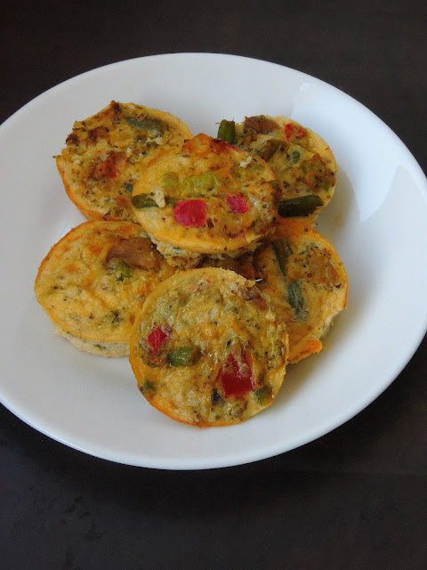 Crustless Vegetable Mini Quiche, Mini Crustless Quiche