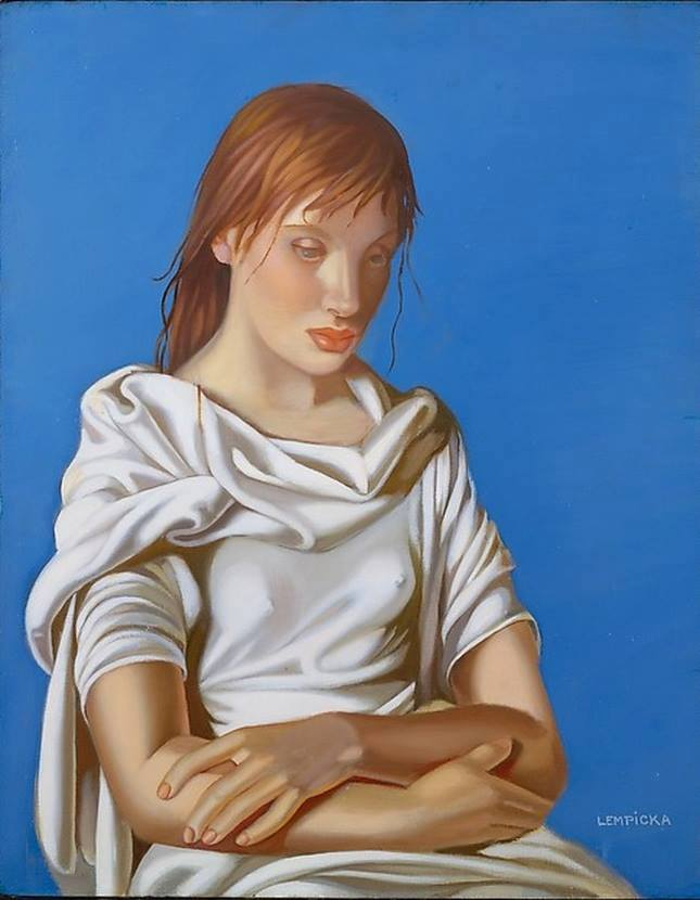 Tamara  De  Lempicka  Young  Lady  with  Crossed  Arms