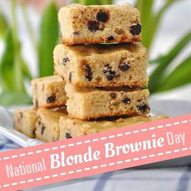 National Blonde Brownie Day Wishes For Facebook