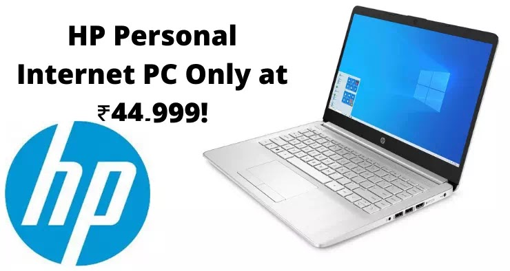 HP Personal Internet PC Only at ₹44,999!