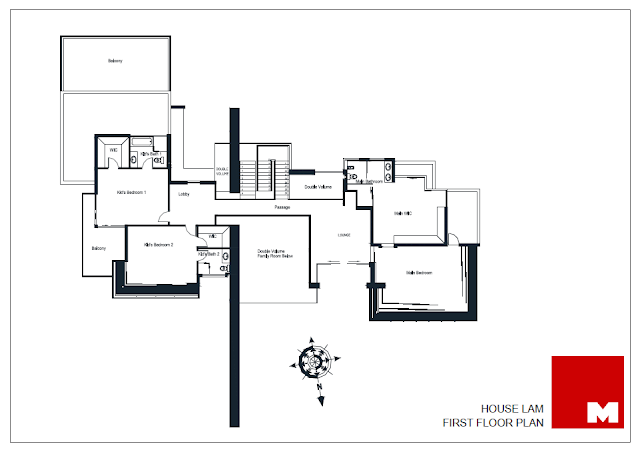 First floor plan of the Lam house