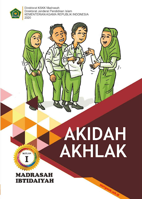buku akidah akhlak kelas 1 mi terbitas kskk madrasah kemenag ri