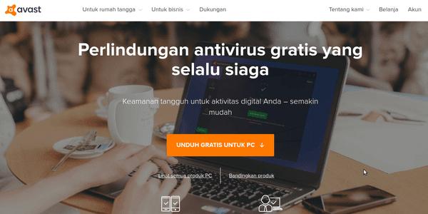 Avast, Antivirus Gratis dan Terbaik untuk PC Windows atau Mac