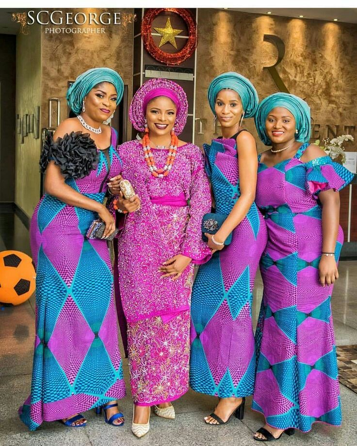 Nigerian Wedding Party: Best African Dresses To Wear To A Wedding (Kitchen Party