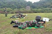 Pelihara dan Tingkatkan Kemampuan Menembak, Kodim 1628/Sumbawa Barat Gelar Latihan  Menembak Senjata Ringan