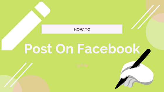 How To Add Post In Facebook<br/>