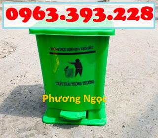 Thùng rác y tế, thùng đựng chất thải y tế, thùng rác đạp chân y tế nhựa HDPE