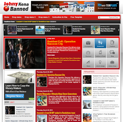Johny Red White Blogger Template Free Download