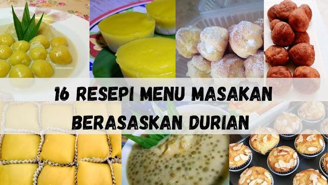 menu masakan berasaskan durian