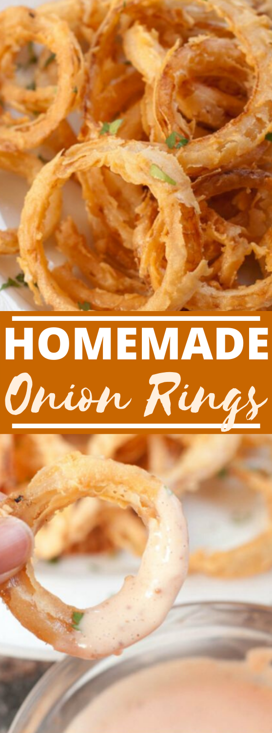 Homemade Onion Rings #appetizers #fingerfood #gameday #recipes #easy