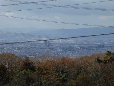 くろんど園地 展望台からの眺望 京都方向