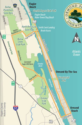 Ormond Scenic Loop and Trail map.